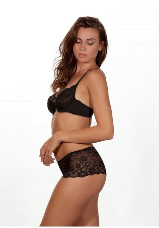 BLACK LACE TWO WAY BOOST BRA