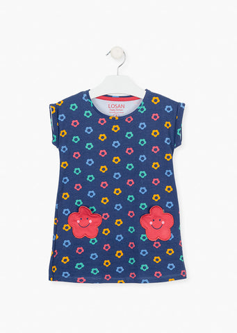 Losan's Girl's Floral pocket dress