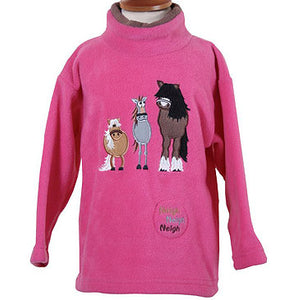 Girls Fleece Style 1410 'Dozy Mares' with a sewn in sound effect