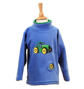 Green tractor' fleece Style 1437 with a sewn in sound effect module