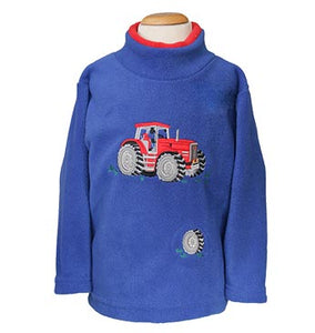 Boys Red Tractor Fleece Style 1518  with  sound effect