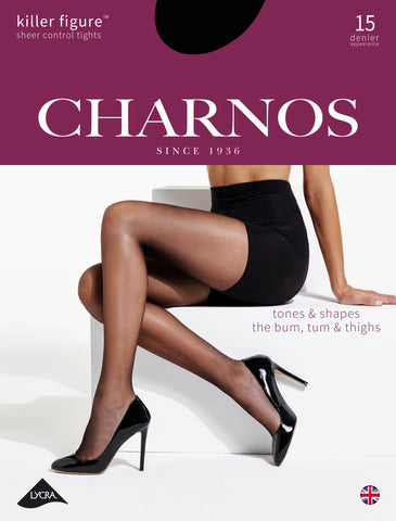 Charnos Killer Figure Ladies Tights 15 Denier  appearance