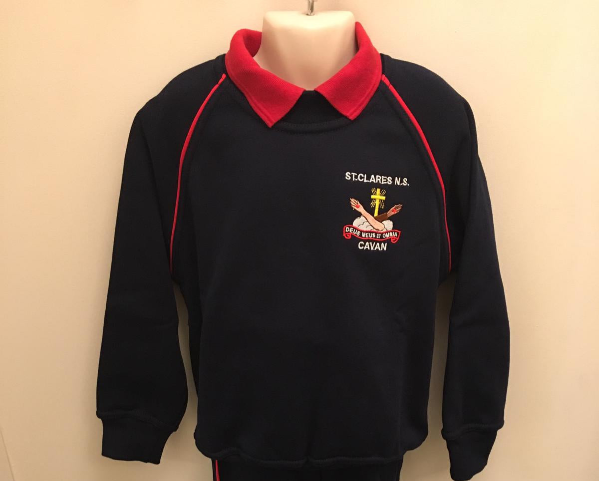 St Clare's N.S. Tracksuit  Top