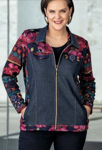 ladies  zipped  jacket