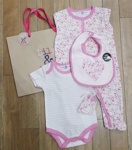 Baby Girl 5pc Set With  Gift Bag