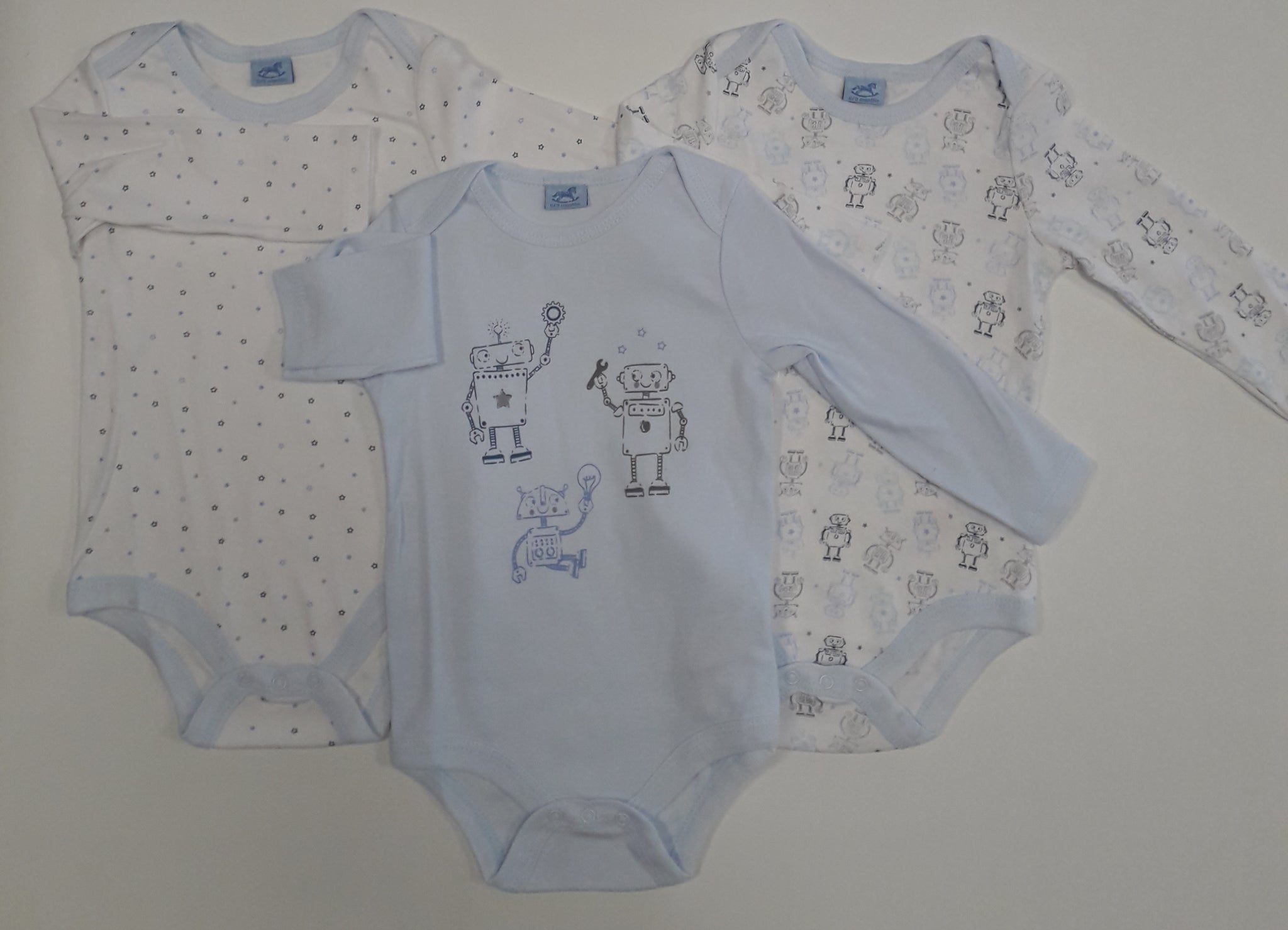 Rock-A-Bye-Baby Three Pack Long Sleeve Vests Q17877