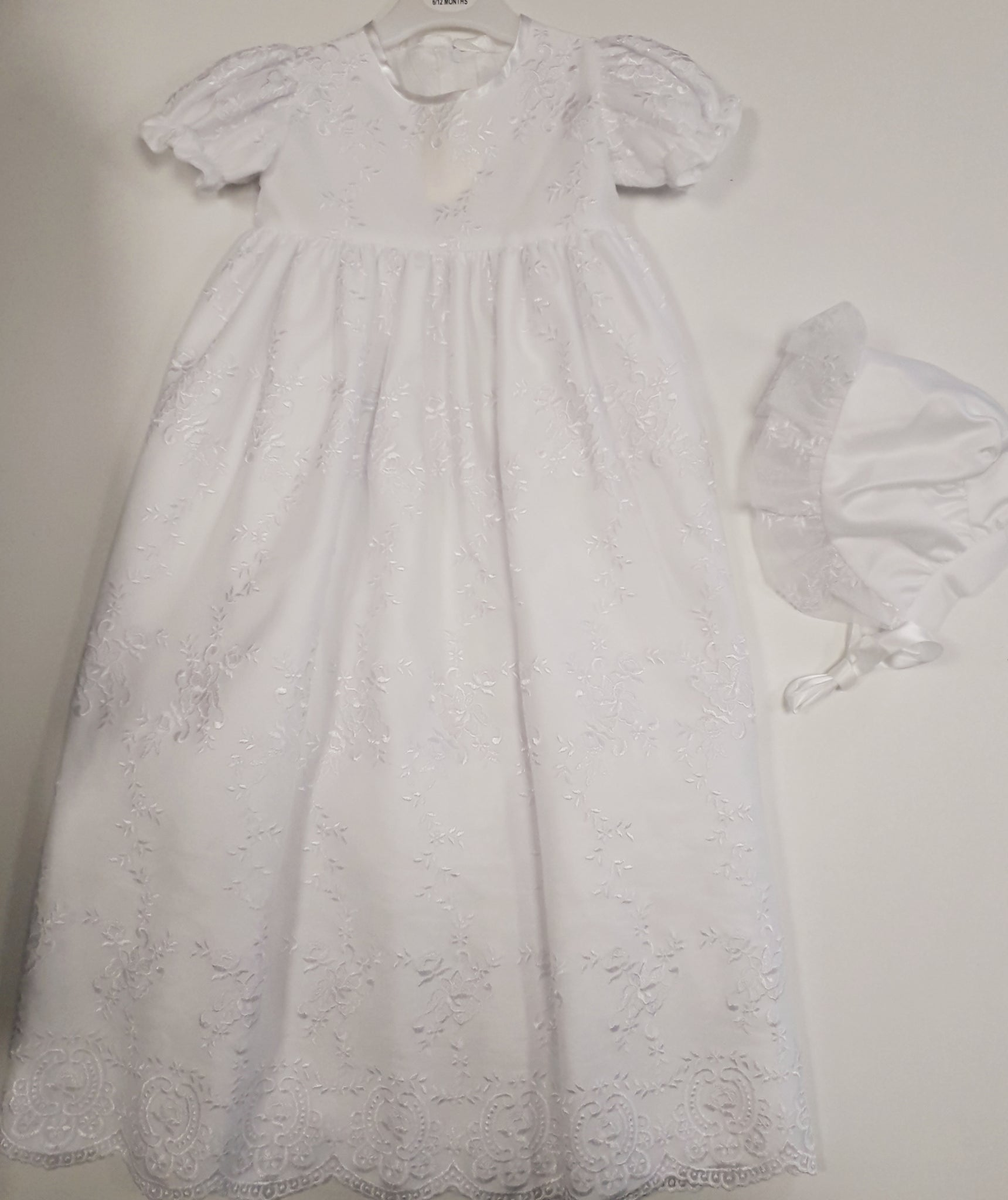 Visara Lace Long Length Christening Gown  G0011