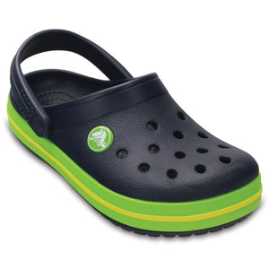 Kids' Crocband™ Clog  Navy/Volt Green