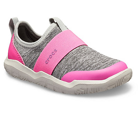 Kids' crocs Swiftwater™ Easy-On Heathered Shoe Light Grey
