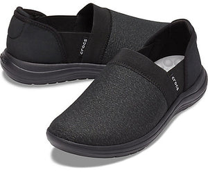 Womens Crocs  REVIVA™ SLIP-ON BLACK