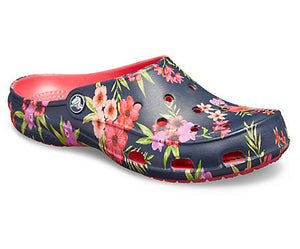 Womens  Crocs  Freesail Printed  Clog   Tropical Floral/ Poppy