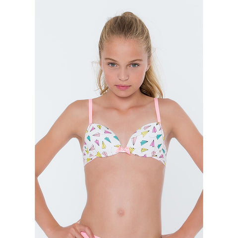 MAUDI  Style 30.04.2155 nonwired cotton girls bra with airplane print