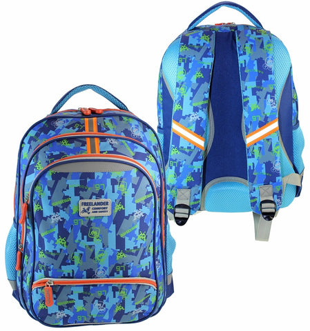 Freelander Blue Comfort and Safety Backpack 34F306