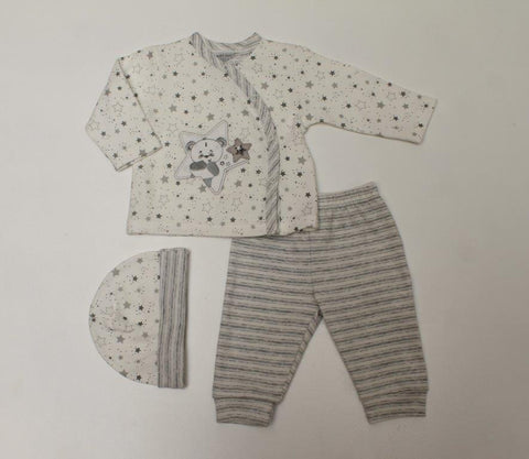 Just Too Cute Three Piece Set Bears and Stars 40JTC8474