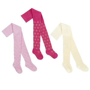 45B123: BABIES TEXTURED NYLON TIGHTS (0-24 MONTHS)