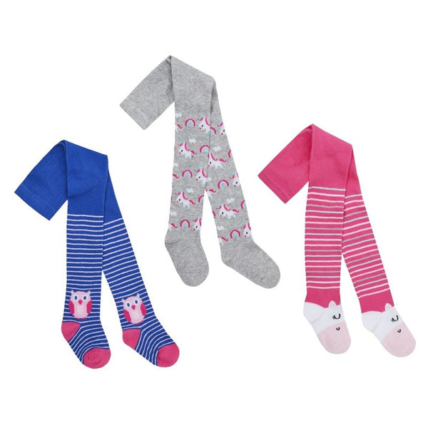 45B125:BABIES ASSORTED DESIGN TIGHTS (0-24 MONTHS)