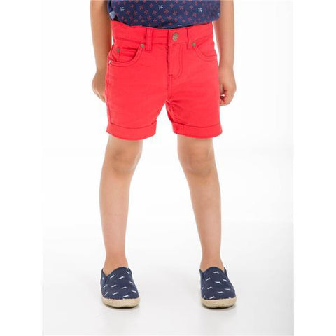 UBS2 BOYS BERMUDA SHORTS RED CTD1020