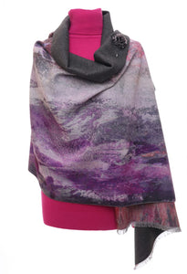 Ladies Zelly Luxury Wrap watercolour Pink