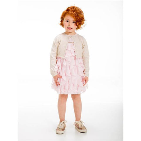 Ubs2 Girls Gold Cardigan E205103