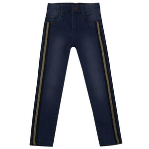 UBS2 GIRLS JEANS WITH SIDE PIPING