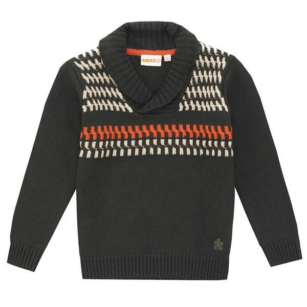 UBS2 Boy's intarsia sweater with collar H205306