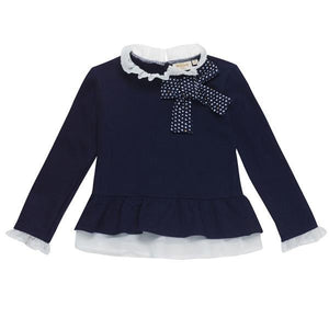 UBS2 Girl's sweatshirt with bow and ruffles H209273