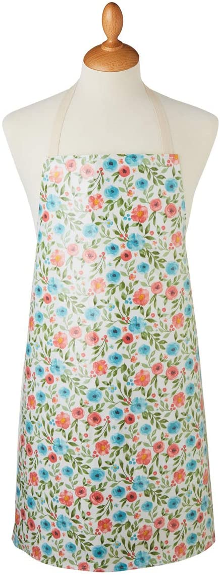 PVC Wipeable Country Floral Apron by Cooksmart