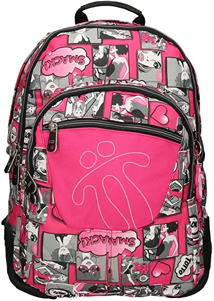 TOTTO SCHOOL BACKPACK – CRAYOLA PINK COMIC 8PE