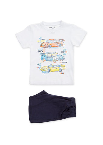 losan boys t-shirt & shorts set ss19