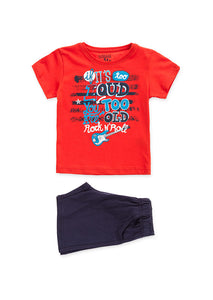 Losan Boys Red t-shirt & shorts set ss19