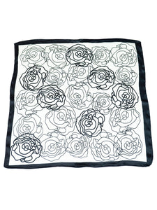 Ladies Scarf SQUARE PRINT SATIN  style 92016