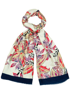 Ladies Faux Silk Floral Print Scarf Style 92029