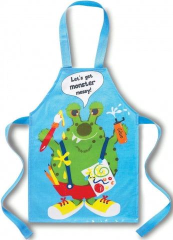 Cooksmart Boys Monster Design Wipe Clean PVC Coated Apron