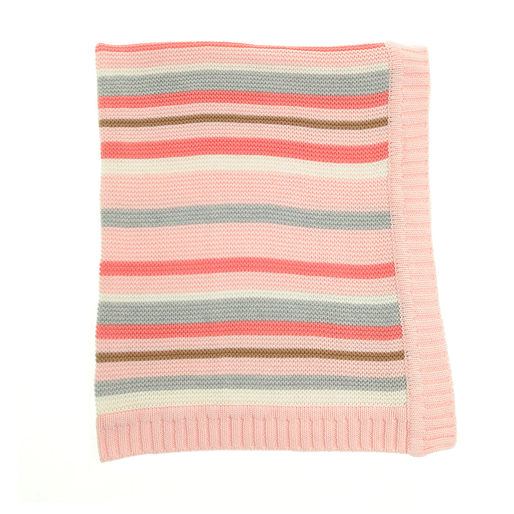 Ziggle Baby Girl Striped  Blanket BLAN2301