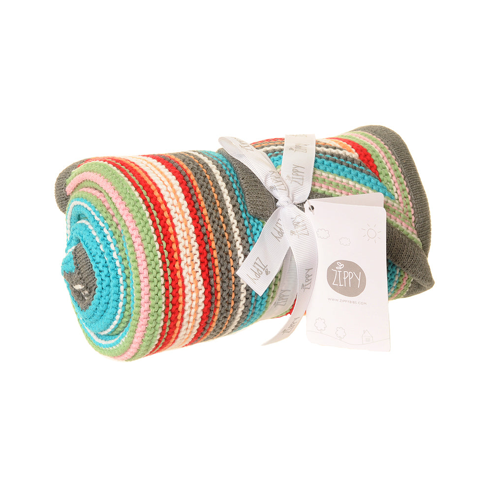 Baby  Colourful Stripes Blanket by  Ziggle