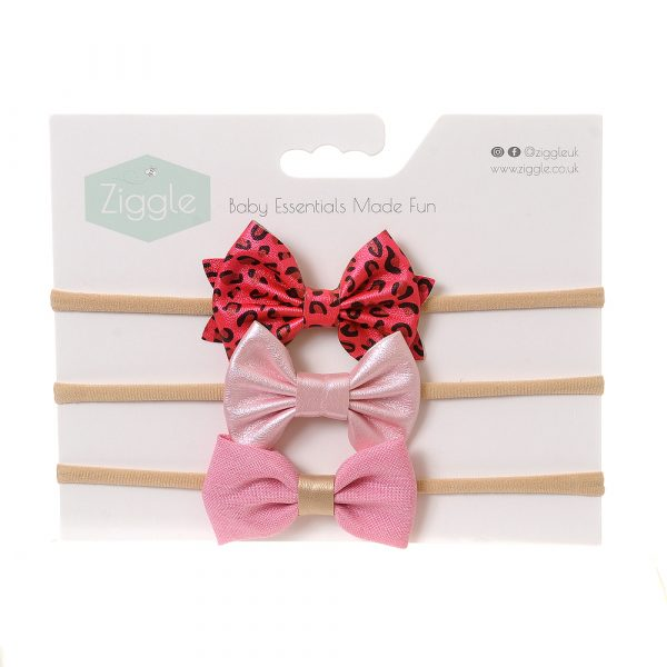 Ziggle Party Pink Hairbow Set