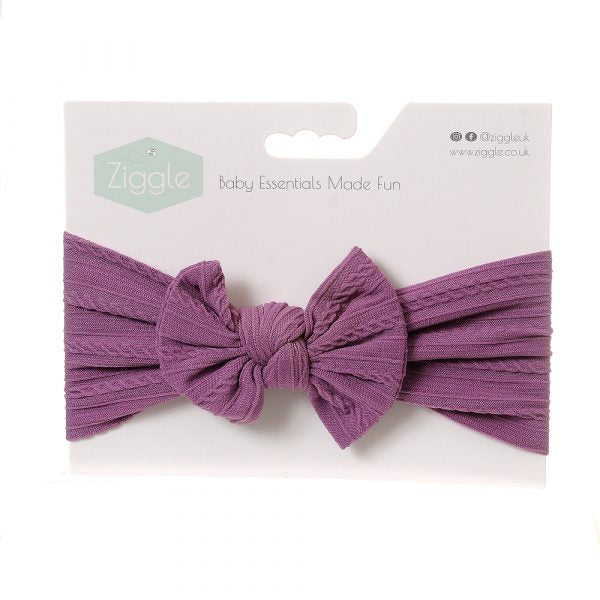 Ziggle Lilac Top Bow Turban Headband