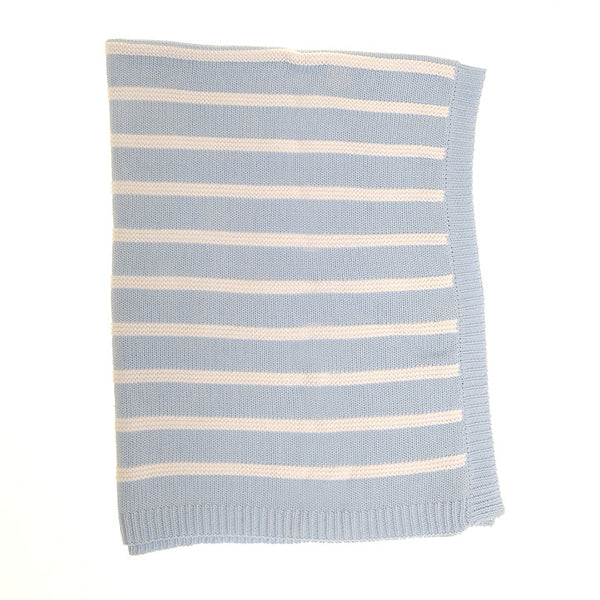 Ziggle Blanket Blue and White Stripes