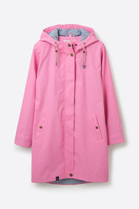 Ladies Waterproof Long Bowline Jacket - Soft Pink
