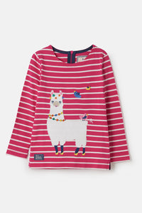 Girls Causeway Top - Llama Appliqué