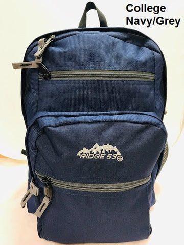 Ridge53 Backpack style College Navy/Grey