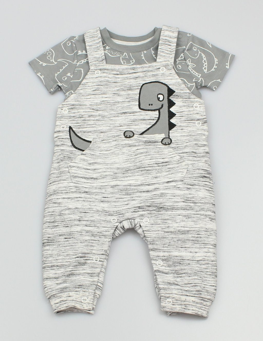 Watch Me Grow  Dinosaur dungaree set WMGF1203