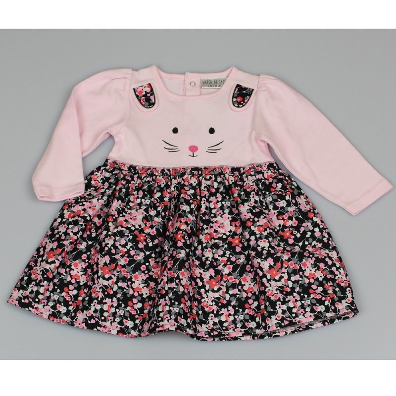 Infant Girls Cotton Lined  Bunny Dress