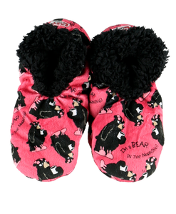 Lazy One Adult Fuzzy Feet Slippers Bear in the Mornings