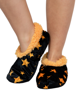 Lazy One Adult Fuzzy Feet Stars Slippers