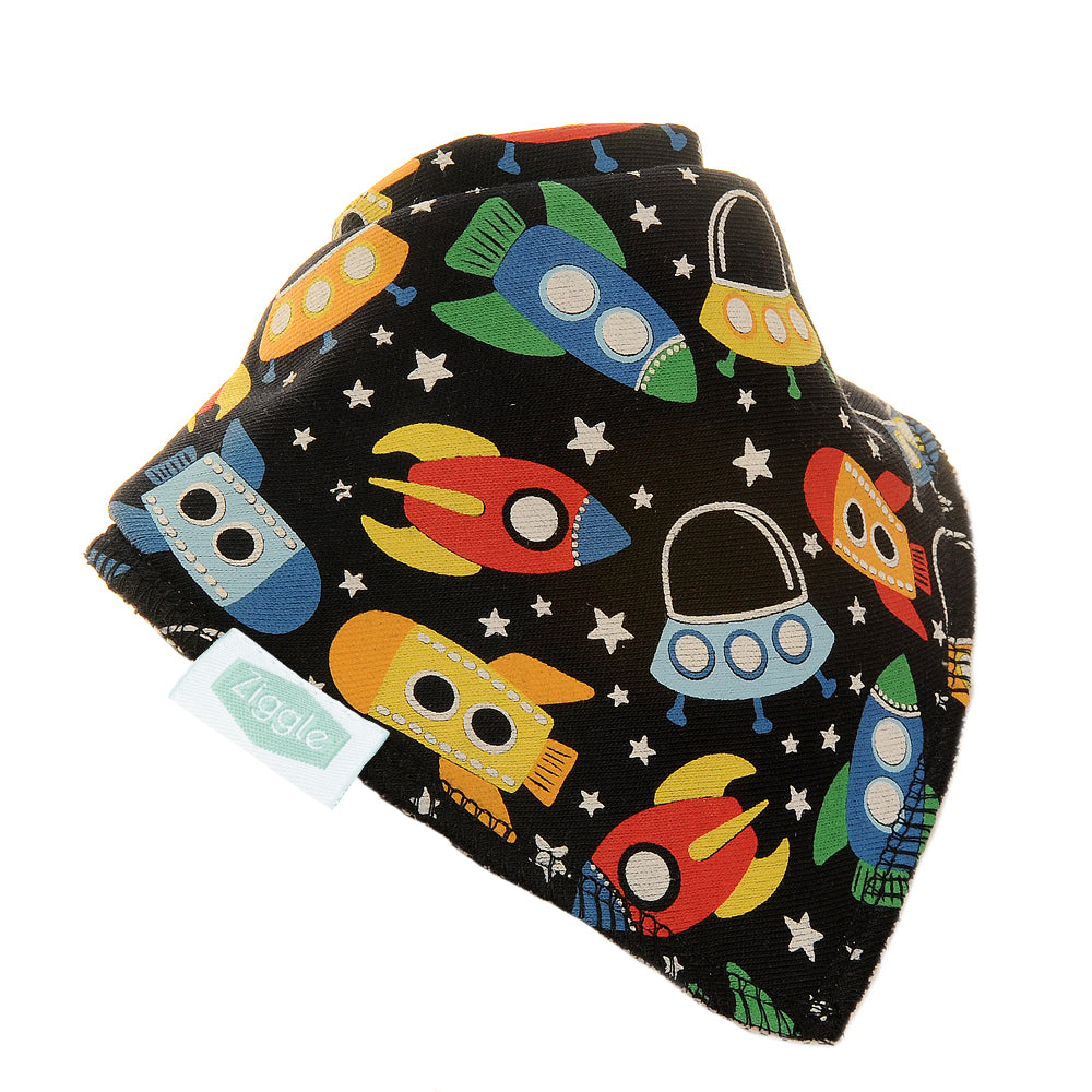 Ziggly Baby Bib Outer Space