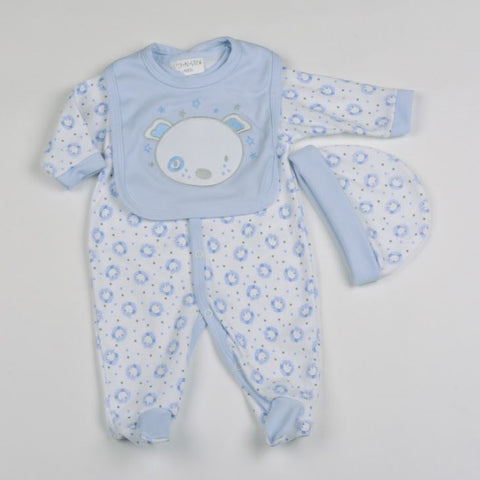 Baby  Boy's 3 Pc Babygrow set