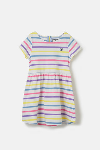 Ellie Short Sleeve Dress - Multi Stripe