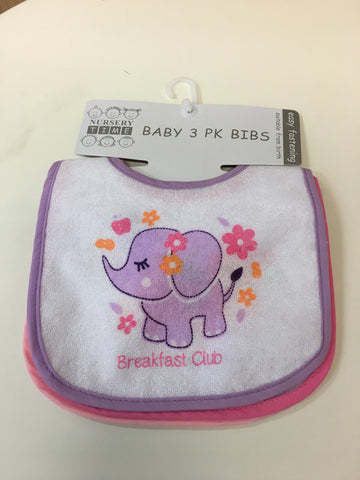 Girls 3 Pack Baby Bibs bw104/648g