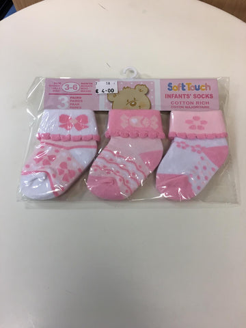 Baby   Girl 3 pack  Socks S67